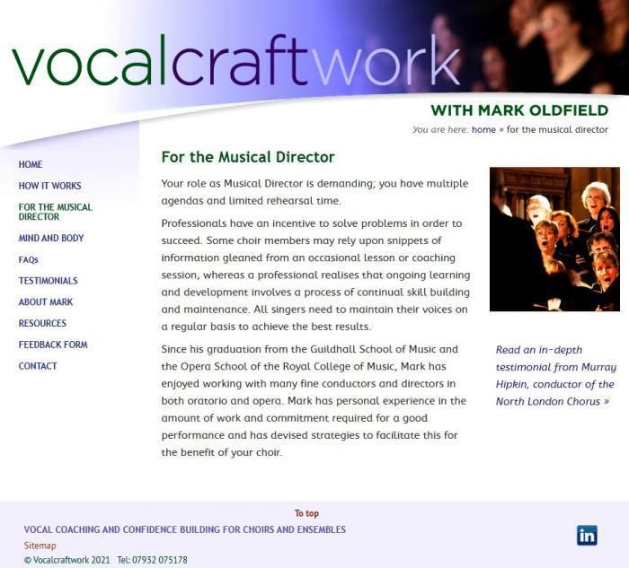 Vocalcraftwork web site